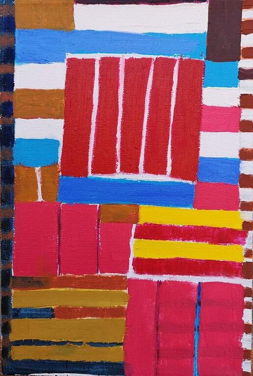 Atta Kwami: Samuel Eta Heroic, 2012, olie på lærred, 30 x 20 cm