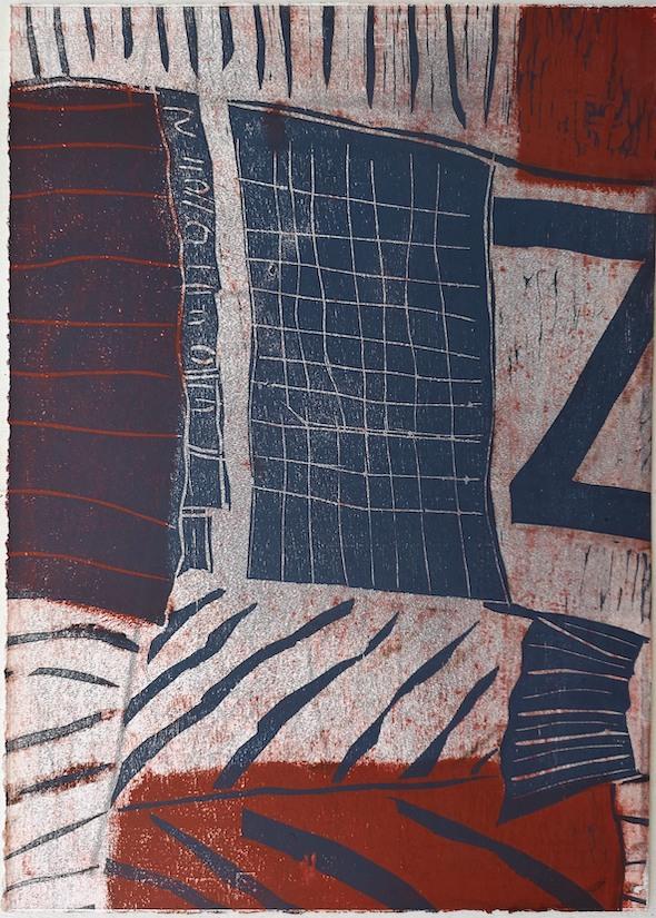 Corrugated, 2019, relief print, 70,3 x 50,4 cm.