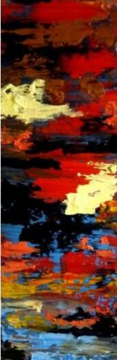 Emotional, 2019, akryl på lærred, 50 x 18 cm